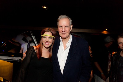 Victoria Aitken with her father Jonathan Aitken