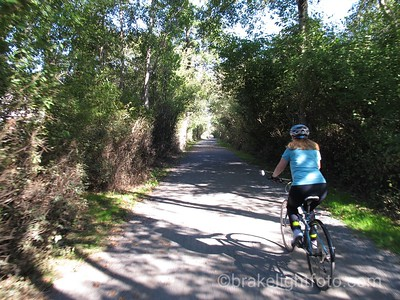 Biking Lochside Trail