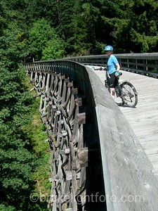 Biking trestle at Sooke Potholes
