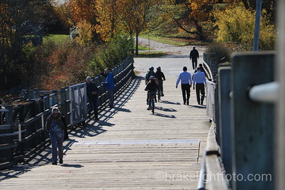 Biking and walking on Selkirk Trestle