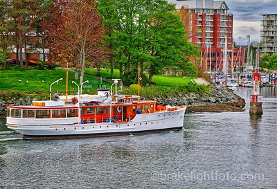 Classic Boat at Laurel Point