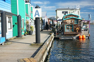 Fisherman's Wharf in Victoria, BC