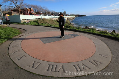 Sidewalk Sundial at Ogden Point