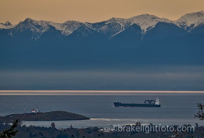 Trial Island & Olympics from Mt Tomie HDR