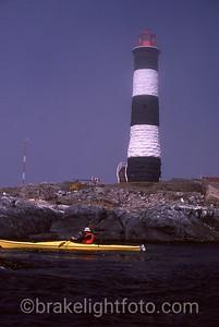 Kayaker at Race Rocks