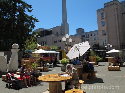 Food Truck Court at the Royal BC Museum