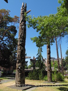 Totems at the Royal BC Museum