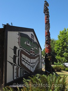Longhouse & Totem at the Royal BC Museum