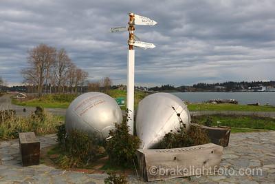 Buoys & Mileage Sign  Fort Rodd Hill