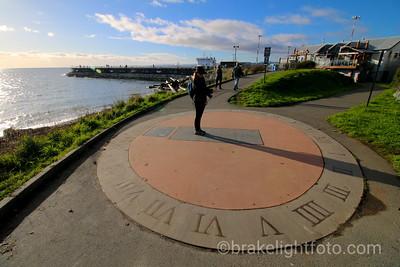 Sidewalk Sundial at Ogden Point