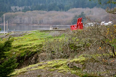 Red Chairs at Fort Rodd Hill