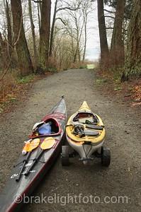 Portaging Kayaks through Portage Park