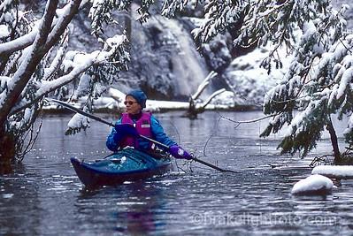 Kayaking near Sitting Lady Falls