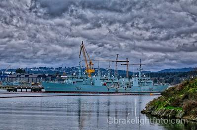 RCN Ships at Naden