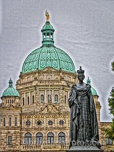 Parliament Building Downtown Victoria