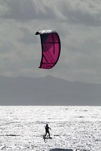 Hydrofoil Kiteboarding at Jordan River