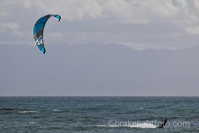 Kiteboarding at Jordan River