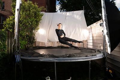 Viky on the trampoline
