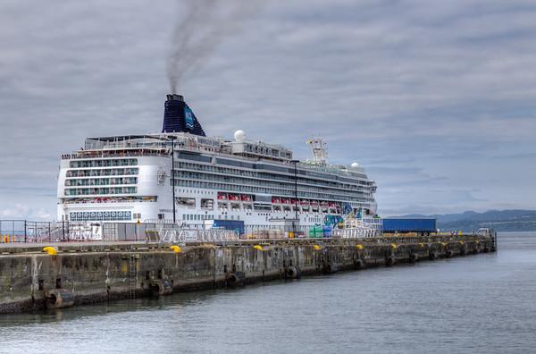 Cruise Ship - Ogden Point, Victoria, Vancouver Island, British Columbia, Canada