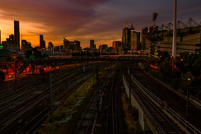 Melbourne sunset, New Year's Eve