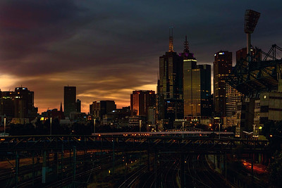 Melbourne sunset !!, New Year's Eve, 2014