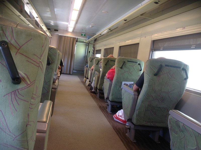 """Heading by rail for Melbourne on the """"Overlander"""""""