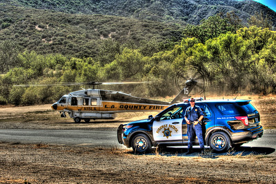 High Dynamic Range image - CHP and LACO Fire Ops airship 15