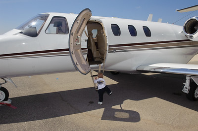 Little John's private jet - so he thought