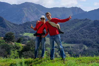 Hikers and fellow photographers - Mulholland Highway