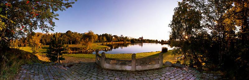 Svandammsparken på hösten