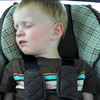Roadtrip! He's falling asleep humming a song....can you guess which one?
