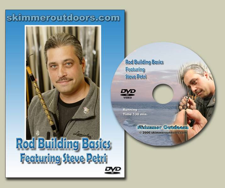 """</FONT>Have you ever wanted to build your own fishing rod but didn't know where to start? This NEW DVD shows you how in detail. From selecting the correct blank to decorative thread work. This informative DVD is the most comprehensive production on the subject of  Rod Building available today. With over 25 Years of Rod Building experience Steve Petri will share with you the tips and tricks that has made him a master Rod Builder. This interactive DVD contains chapters making it a snap to view a specific topic and will be a great reference for any rod builder.  Running Time 110 Minutes Plus   </pre> <pre><font face=""""Arial Black"""" color=""""#FF0000"""" size=""""4""""><a href=""""http://skimmeroutdoorscom.easystorecreator.com/items/dvds/rod-building-basics-featuring-steve-petri-rod-building-detail.htm"""">BUY NOW</a></font></pre> <pre><font face=""""Arial"""" size=""""4""""><a href=""""http://www.skimmeroutdoors.com/webcast/Rod_building.wmv"""">Click here to View Trailer</a></font></pre>"""