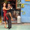 This Argentine tango was performed outdoors in the La Boca neighborhood of Buenos Aires.