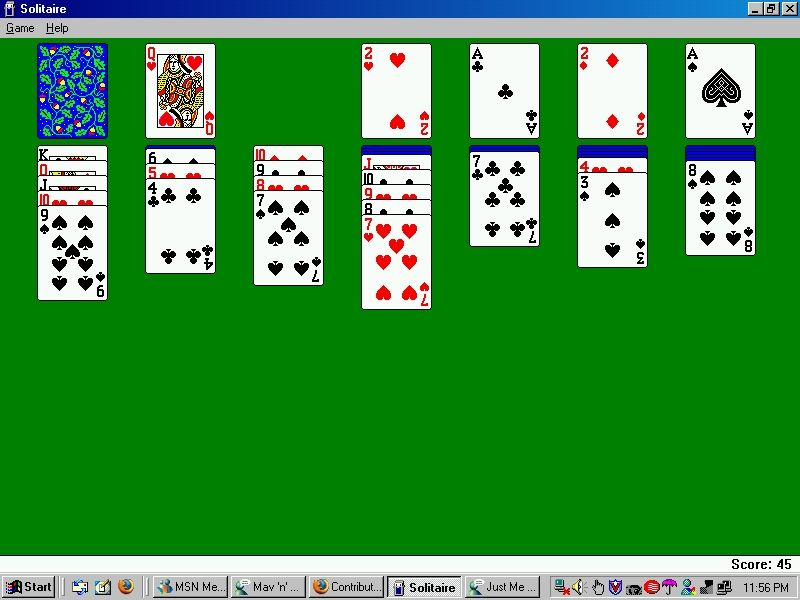 ". ""Microsoft Windows Solitaire,\"" released in 1990 for Windows."