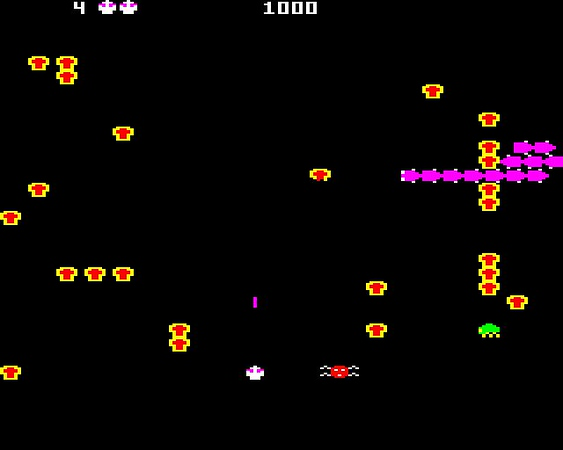 """Centipede,"" released June 1981 for arcades."