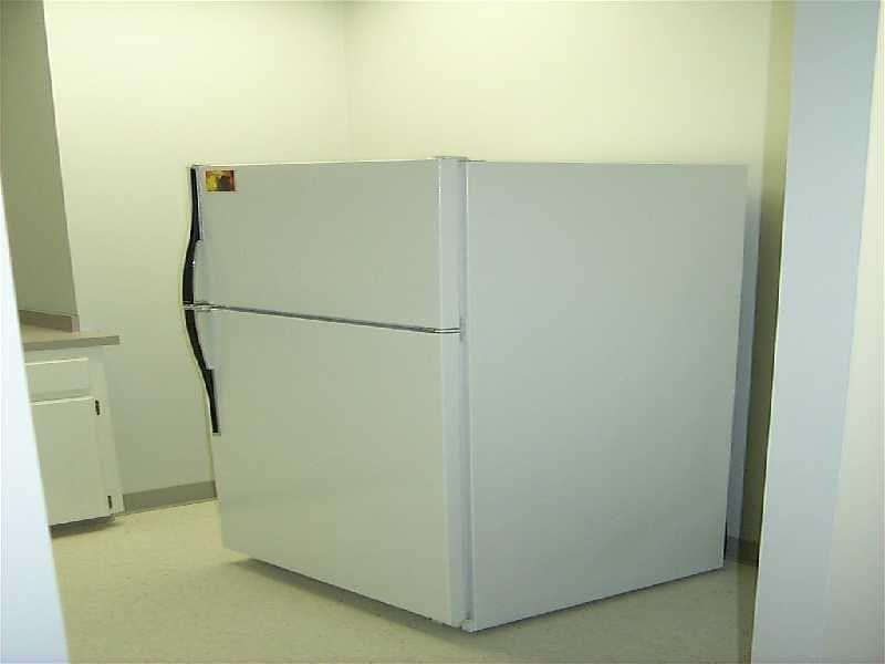 beautiful fridge in kitchen