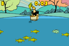 One of the minigames......fishing.  Hey, don't knock it - World of Warcarft has fishing! LOL.