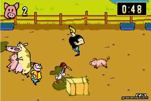 Another fun minigame where you run around picking up pigs and taking them out of the area.  Most pigs wins.