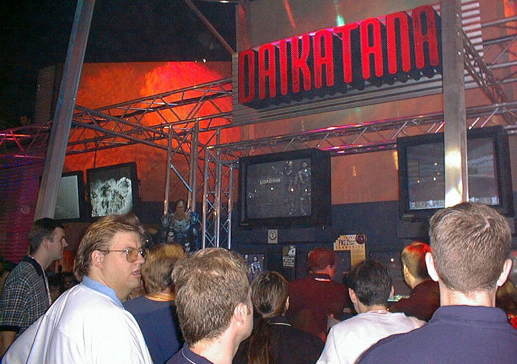 Daikatana at E1 in 1998. At the far left is Redwood.