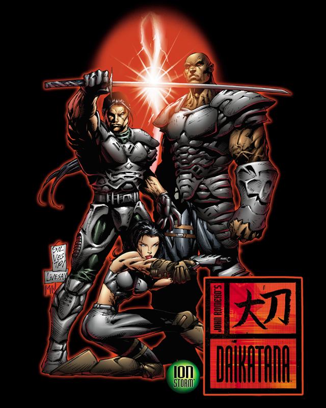 The cover of the Daikatana comic by Mark Silvestri.