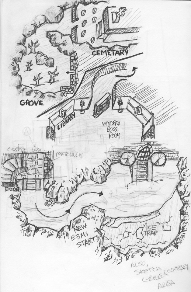 This is my sketch of the Wyndrax boss fight area.