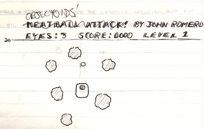 The very first name of the game was Meatball Attack because the entire game was going to be that one shape.  I changed my mind and added a lot of different shapes, objects, to blast and renamed it Objectoids.