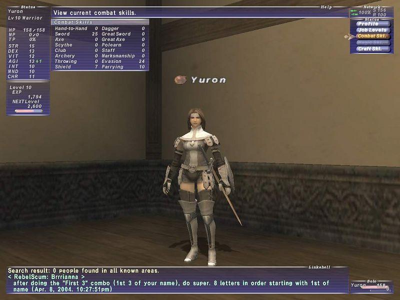 2004-04-09 - Yuron's combat skills