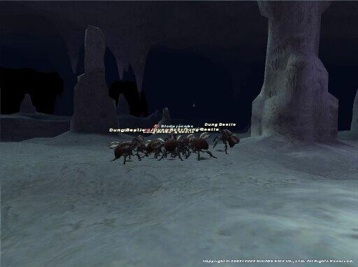 2004-08-22 - Sladejacobs fights a whole bunch of beetles in Ordelle's Caves.