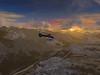 Helicopter over the Inn River just east of Innsbruck, Austria.<br /> Microsoft Flight Simulator FSX