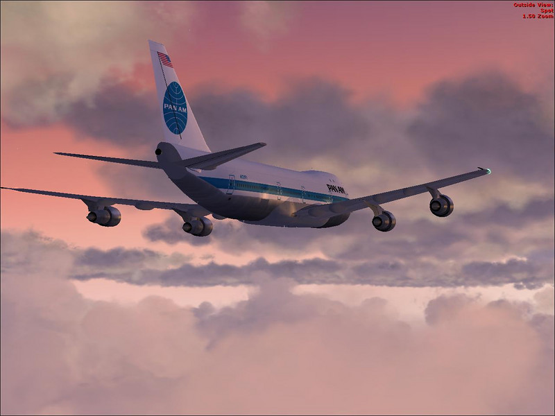 Boing 747 by Project OpenSky, flying in FSX