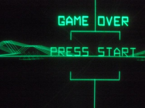 "Battlezone's ""Game Over"" screen."