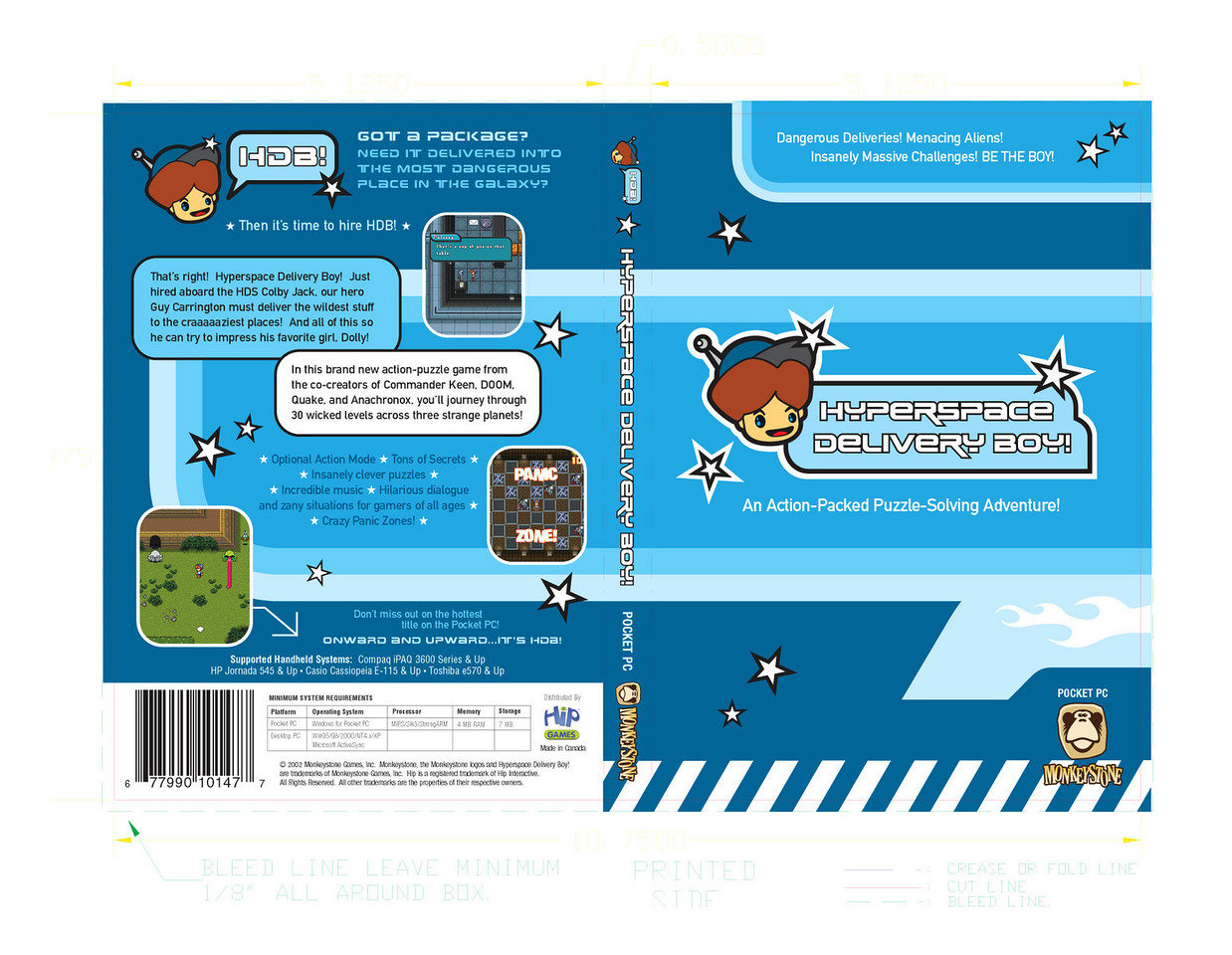 Here's the Pocket PC package design ready for printing - it fits a DVD case.
