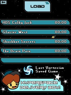 Load a saved game screen (Pocket PC)