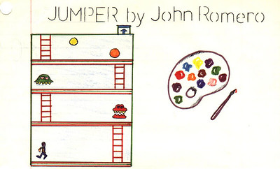 Another drawing of my idea for later levels in the game.  If the game was named Jumper instead of Jumpster.